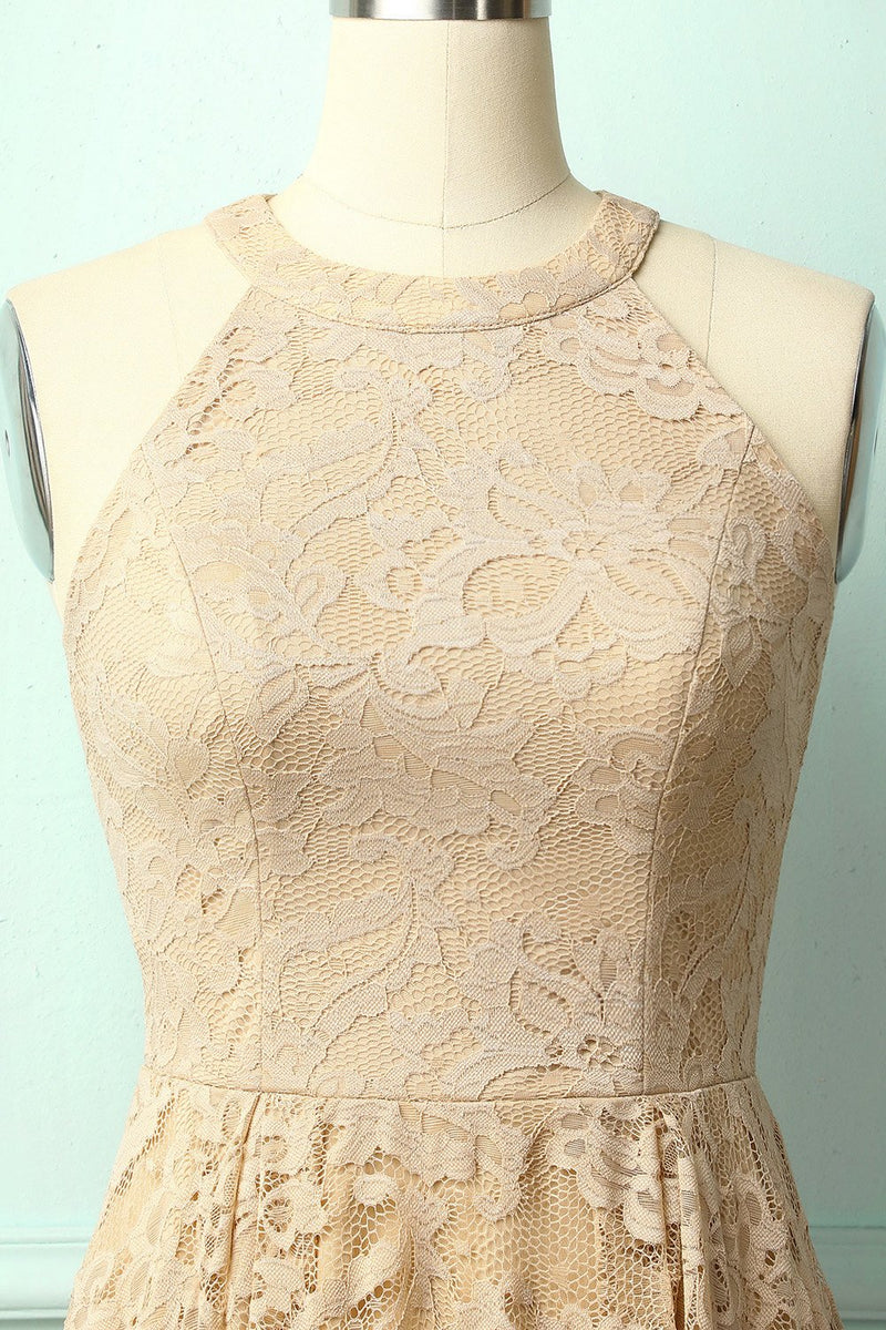 Load image into Gallery viewer, Champagne Lace Dress