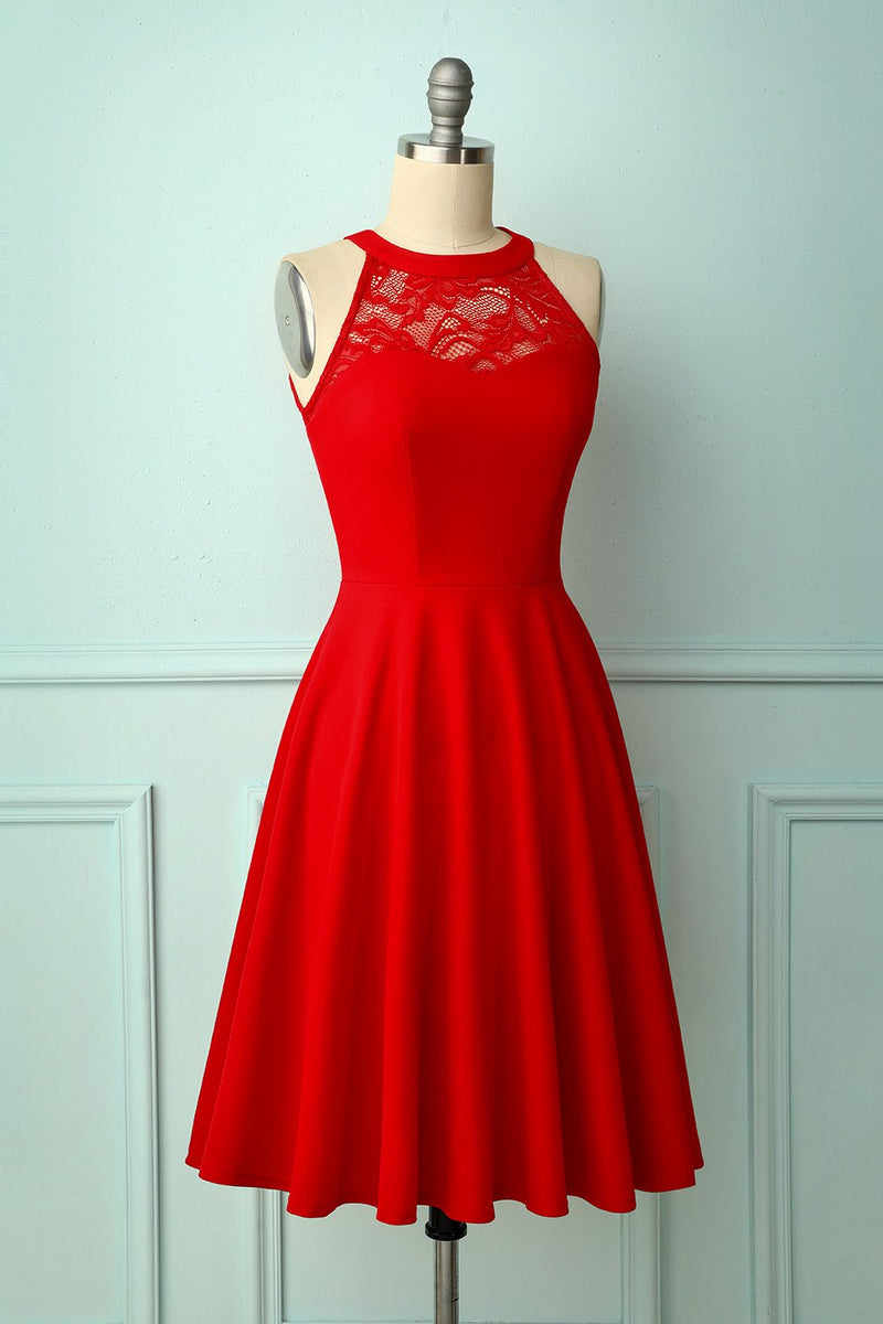 Load image into Gallery viewer, Red Bridesmaid Dress