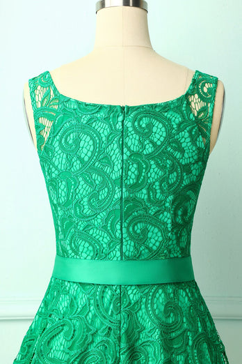 Green Lace Bridesmaid Dress