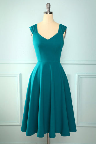 Turquoise Ruffle Dress
