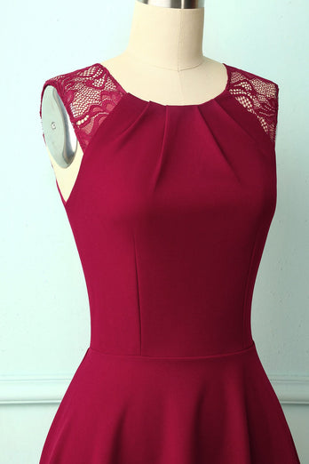 Vintage Burgundy Homecoming Dress