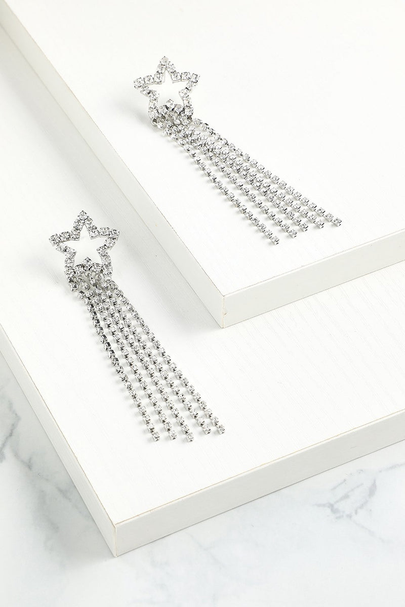 Load image into Gallery viewer, Star Beaded Drop Earrings