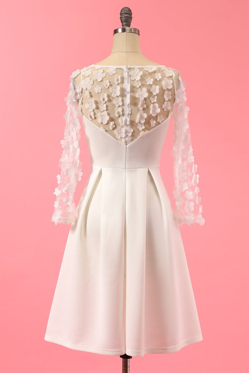 Load image into Gallery viewer, White Lace Party Dress