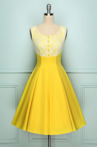 Yellow Button Up Dress