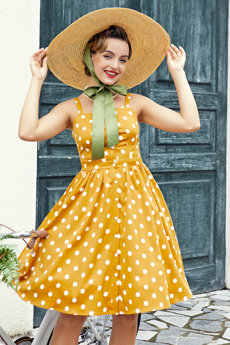 Load image into Gallery viewer, Yellow Polka Dots
