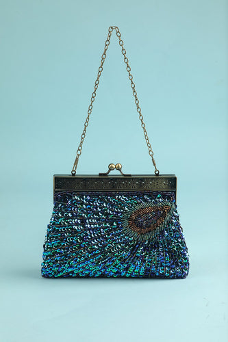 Peacock Green Evening Bag