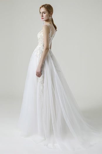 A-line Appliques Wedding Dress