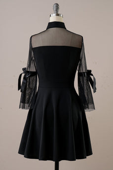 Black Halloween Vintage Dress