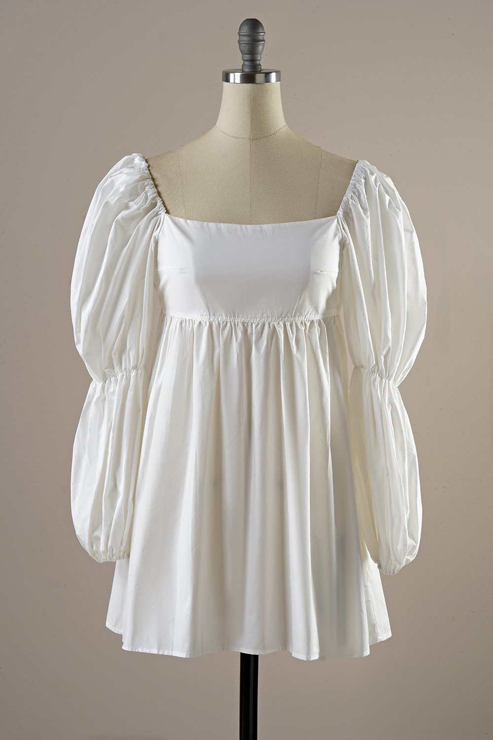 White Vintage Mini Dress