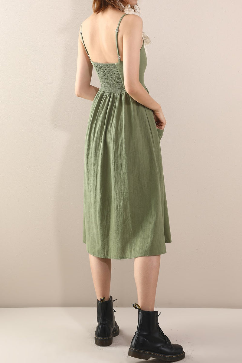 Load image into Gallery viewer, V Neck Midi Rayon Casual Dress