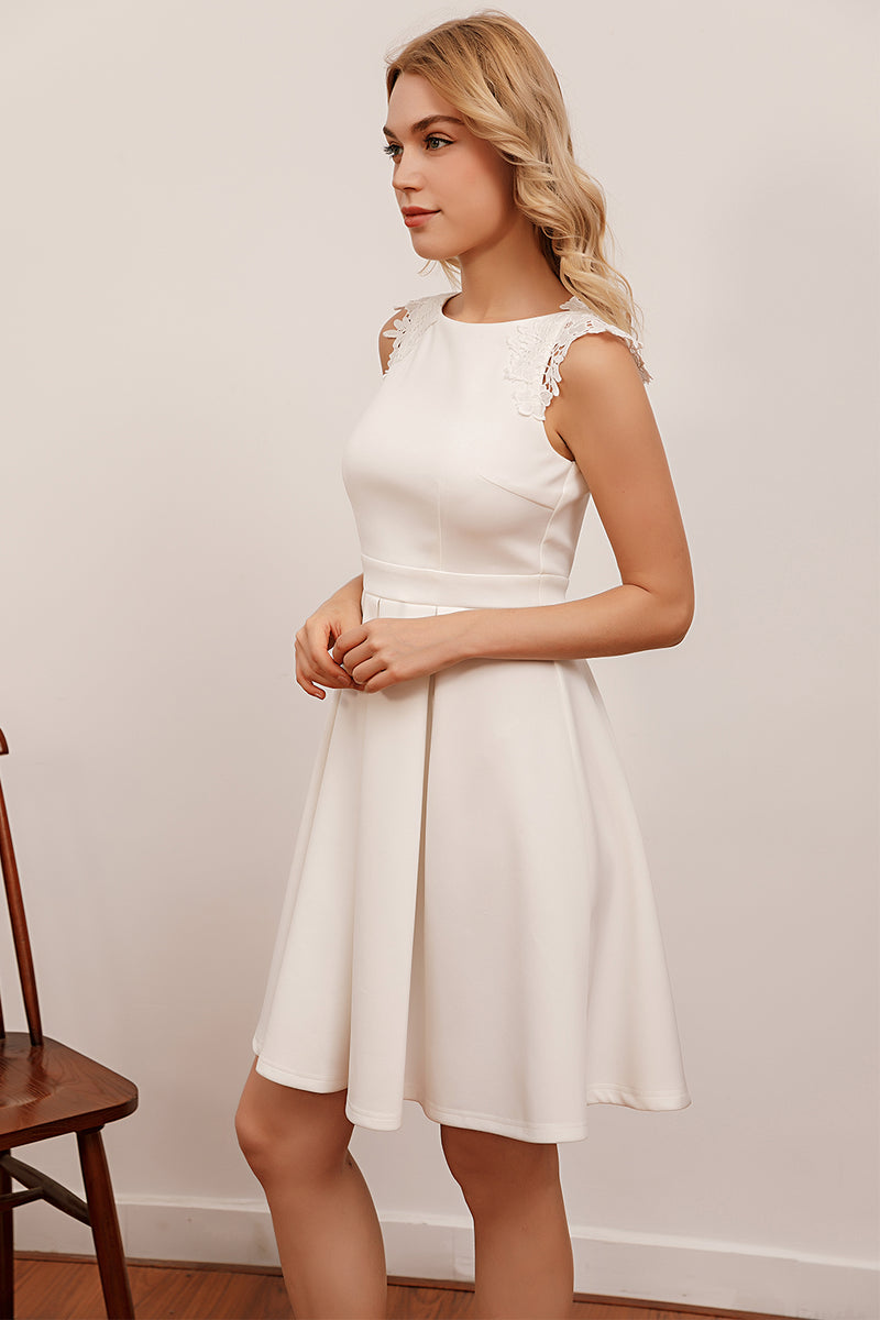 Load image into Gallery viewer, Simply White Lace Dress