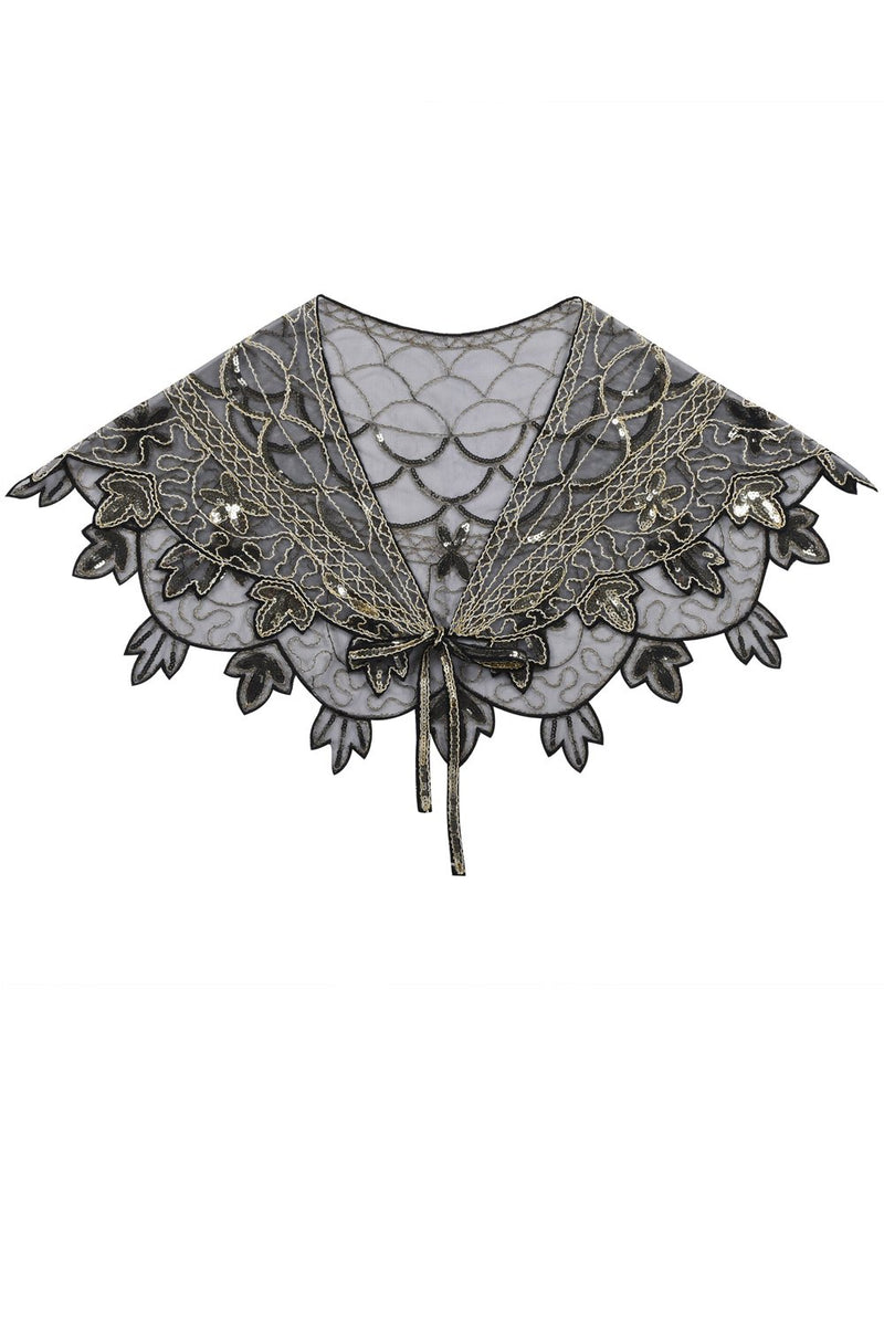 Load image into Gallery viewer, 1920s Flower Sequin Women Cape