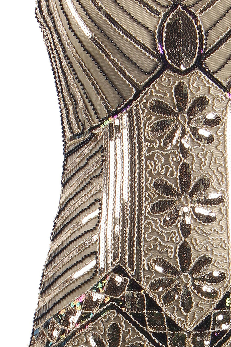 Load image into Gallery viewer, Glitter Fringe 1920s Flapper Dress