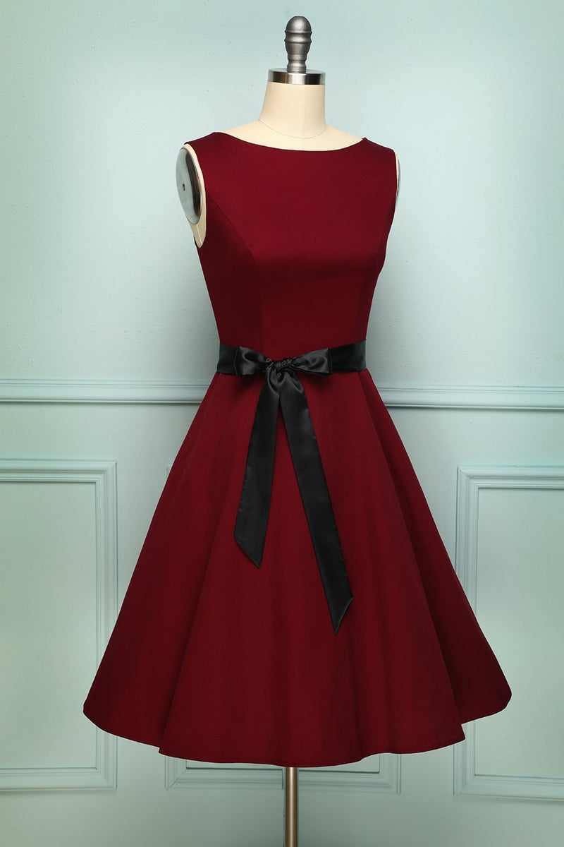 Load image into Gallery viewer, Burgundy Swing Dress - ZAPAKA