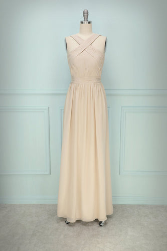 Champagne Ruffle Dress - ZAPAKA