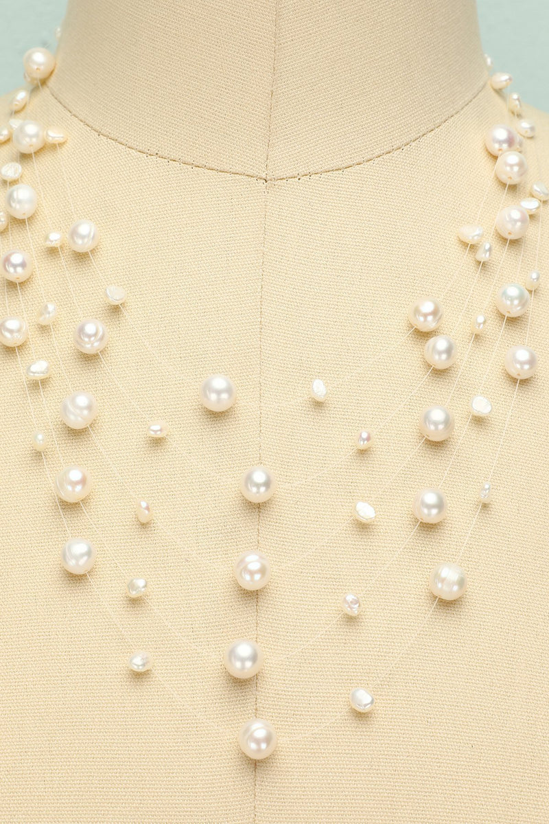 Load image into Gallery viewer, Layered Pearl Necklace - ZAPAKA