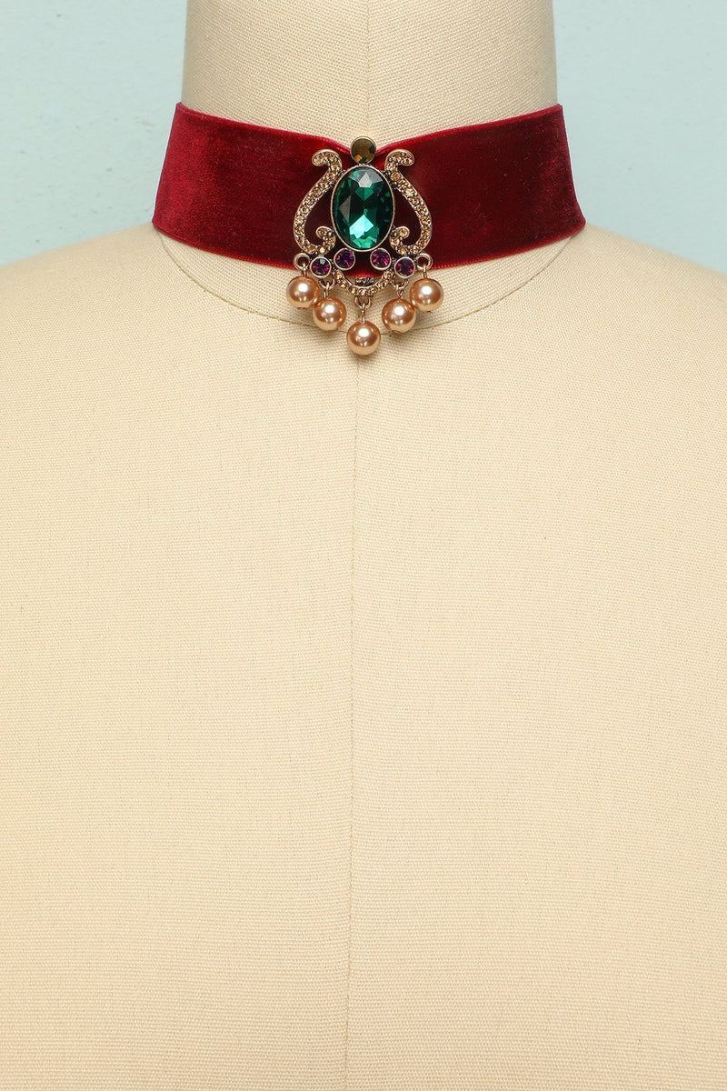 Load image into Gallery viewer, Red Velvet Necklace - ZAPAKA