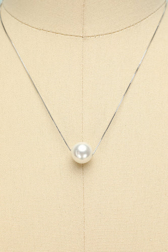 White Pearl Necklace - ZAPAKA