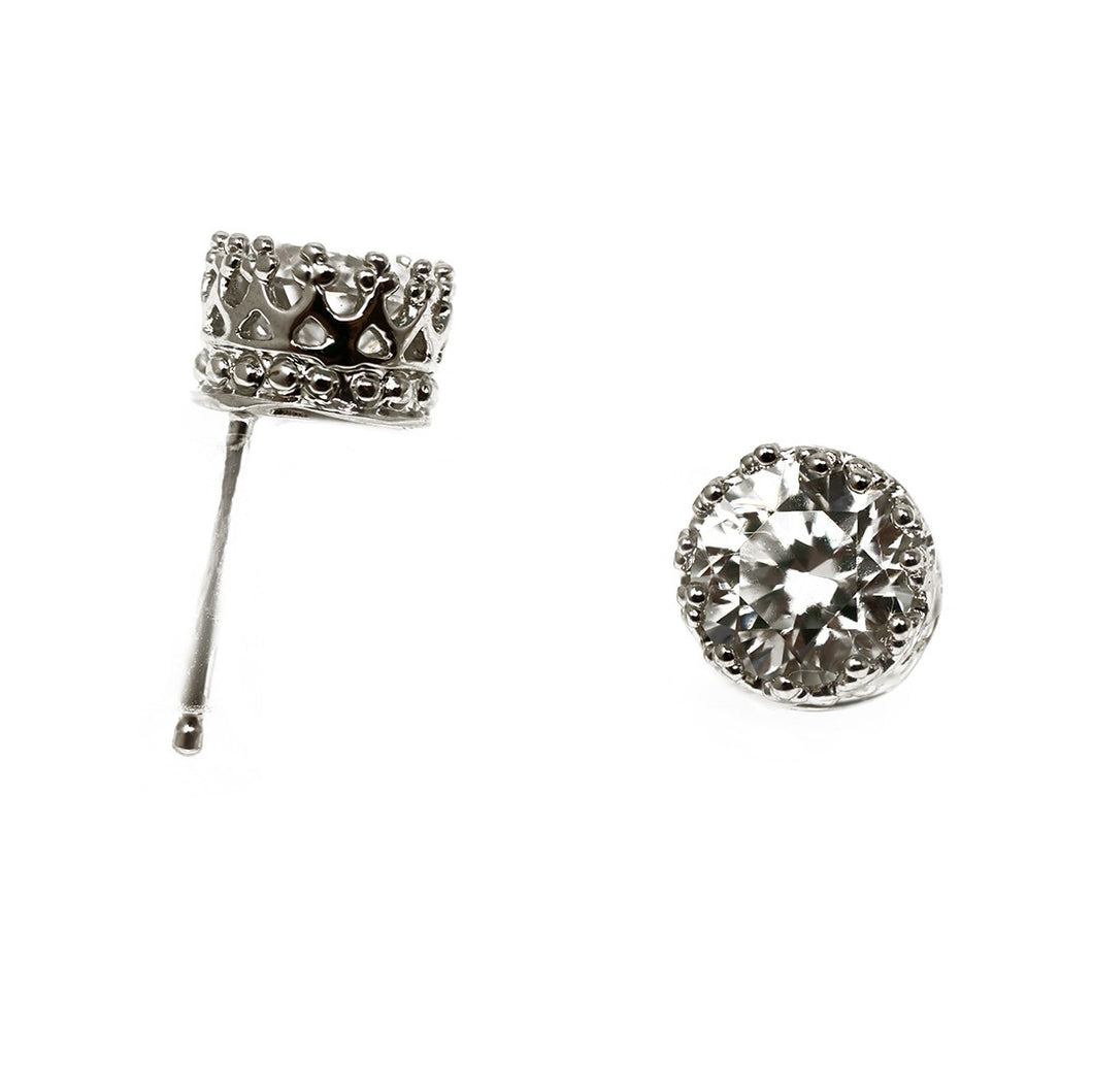 sterling silver crown studs