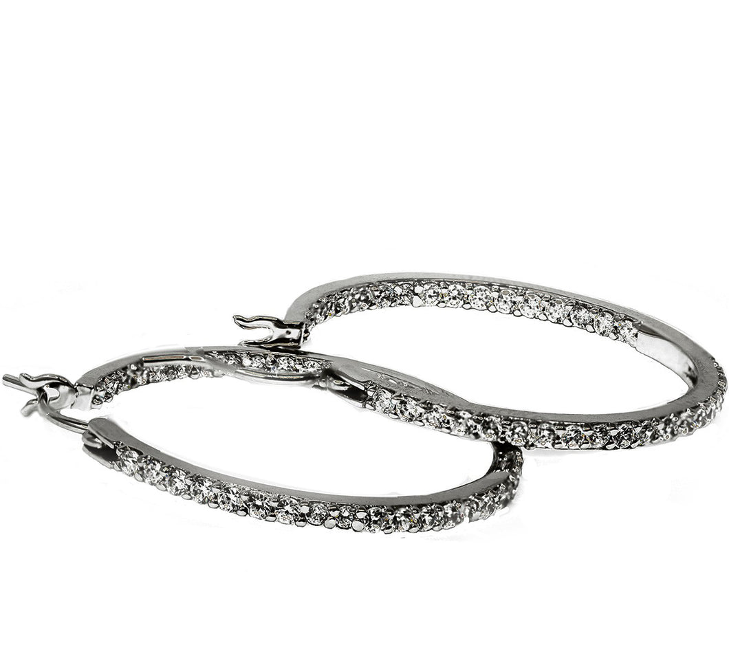 35mm sterling silver hoop earrings