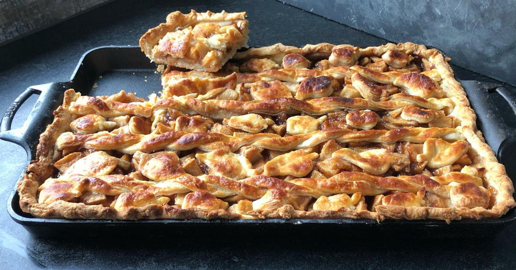 Apple Slab Pie in Buttermilk Pastry