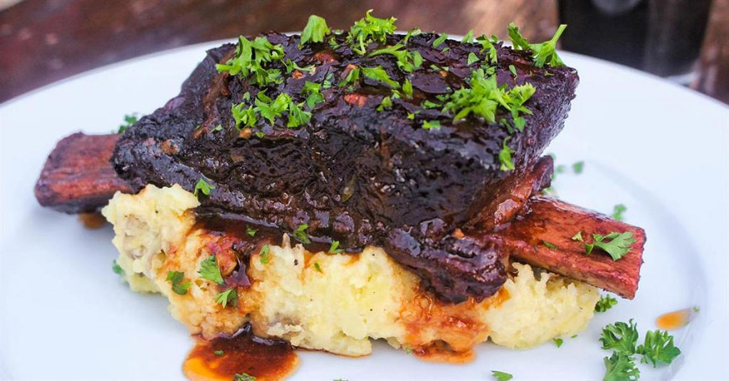 Beer Braised Short Ribs with Mashed Potatoes