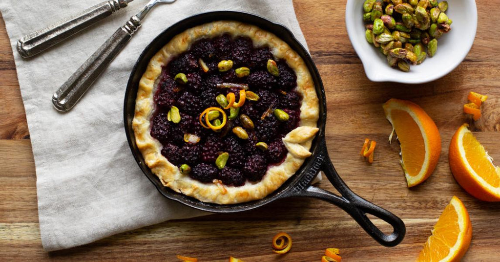 Blackberry Orange Tart for Two