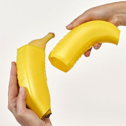 """Banana 'n Go"" Expandable Banana Carrying Box by Metaltex"