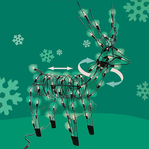 Holiday Standing Buck<br>48 Inch - 210 Mini Lights