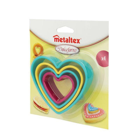 Heart Shaped Set of 4 Nesting Cookie Cutters by Metaltex