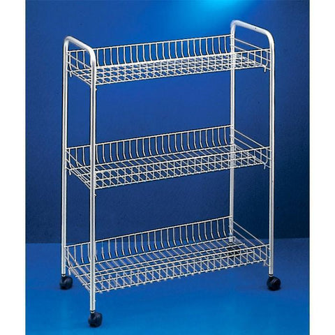 """Slim De Lux"" Rolling Cart by Metaltex"