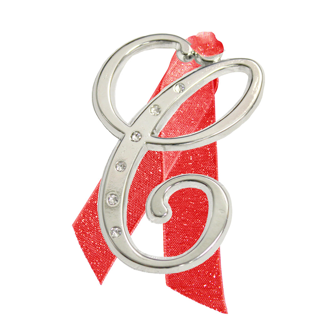"Letter ""C"" Holiday ""Romantique Fonts"" Ornaments Made with Crystals from Swarovski™"