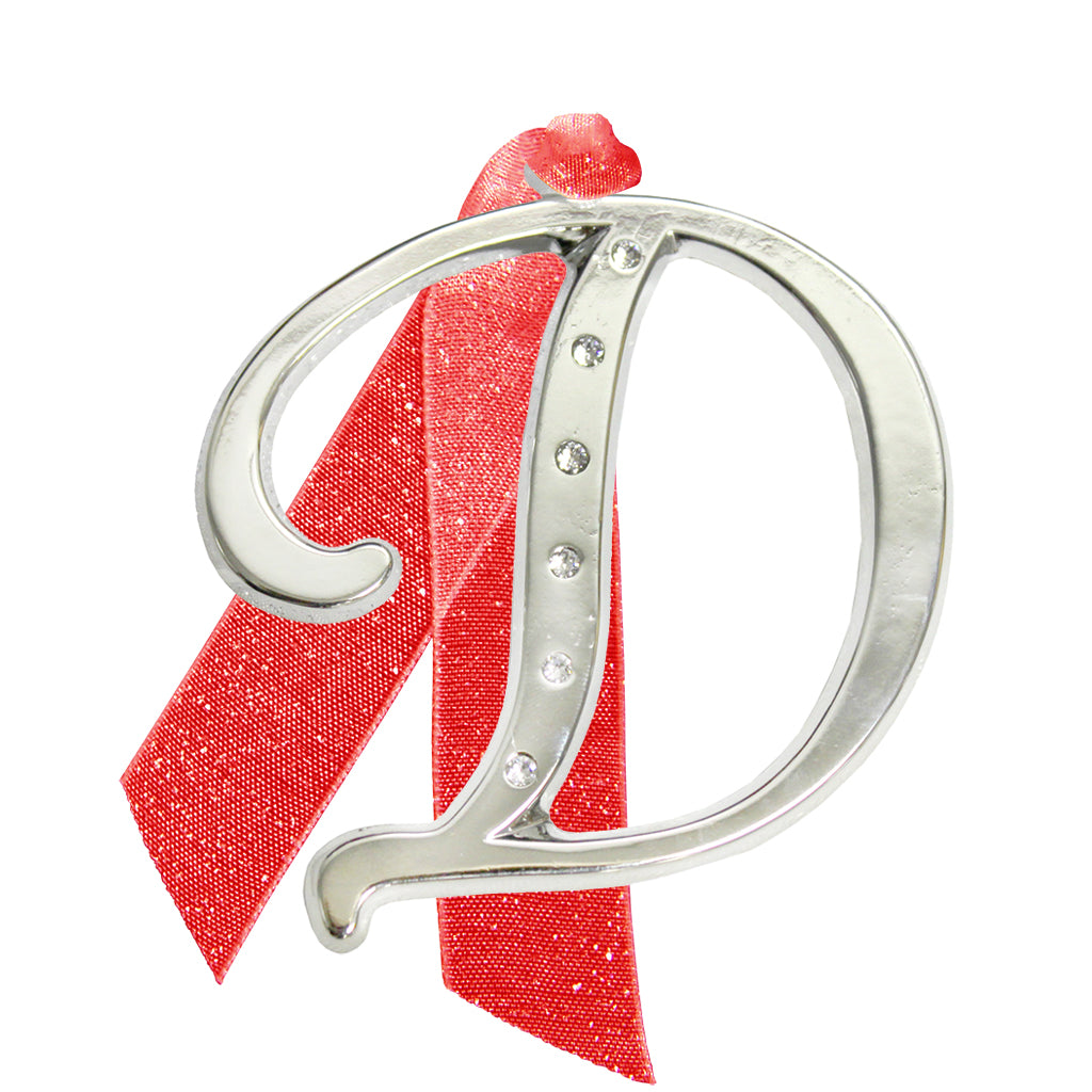"Letter ""D"" Holiday ""Romantique Fonts"" Ornaments Made with Crystals from Swarovski™"