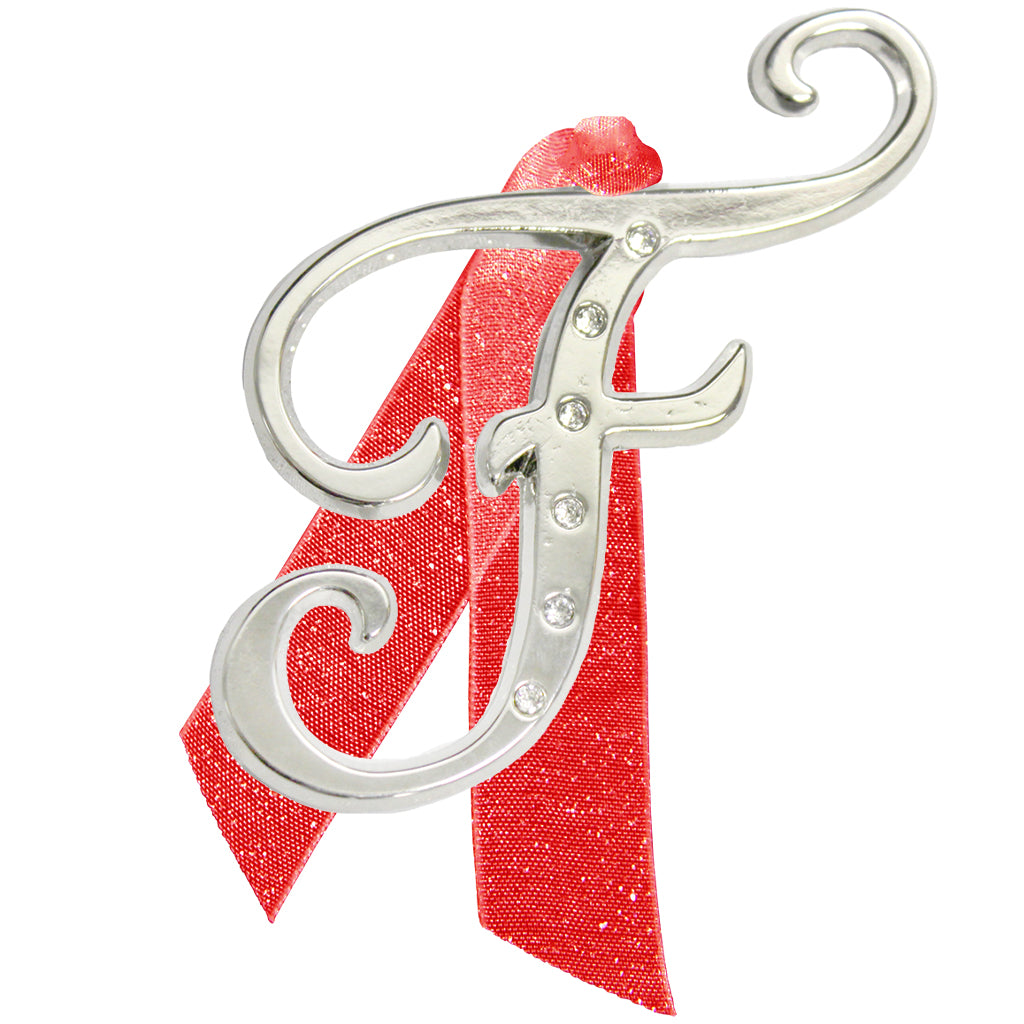 "Letter ""F"" Holiday ""Romantique Fonts"" Ornaments Made with Crystals from Swarovski™"