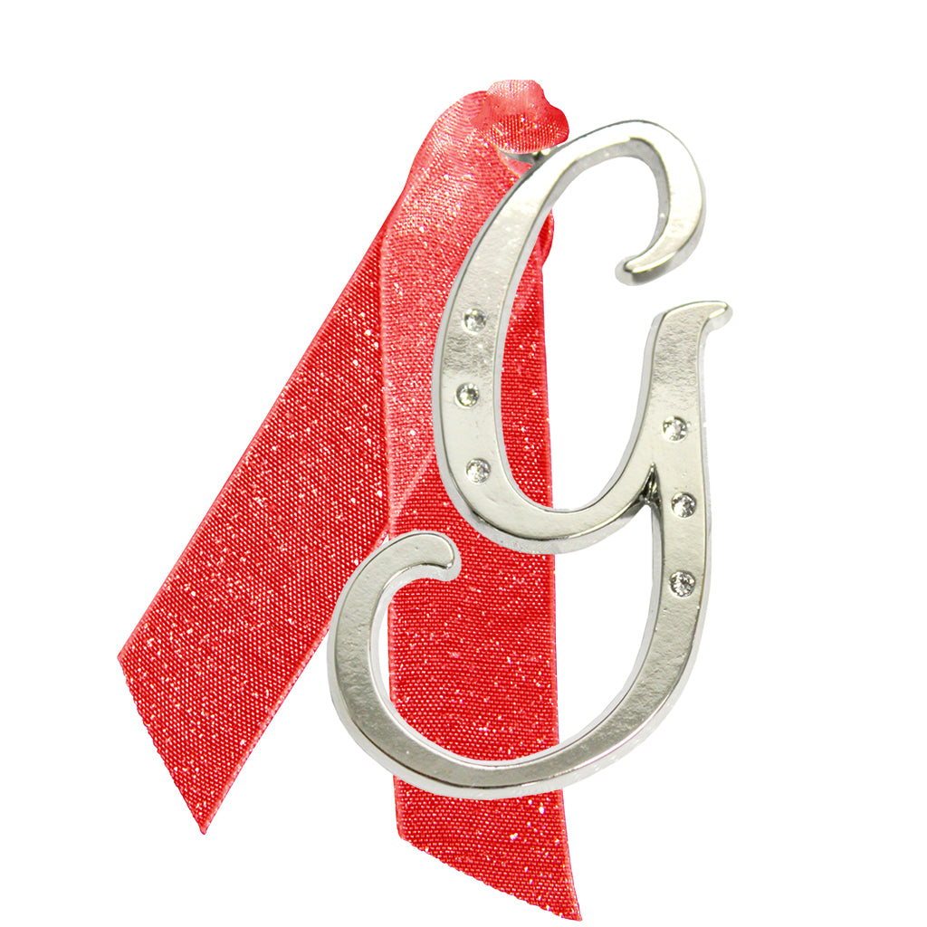 "Letter ""G"" Holiday ""Romantique Fonts"" Ornaments Made with Crystals from Swarovski™"