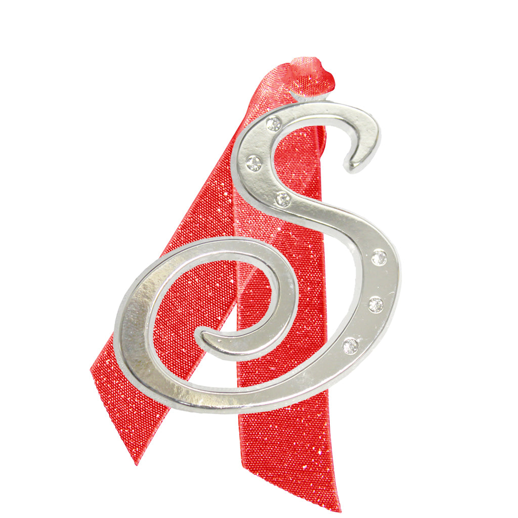 "Letter ""S"" Holiday ""Romantique Fonts"" Ornaments Made with Crystals from Swarovski™"