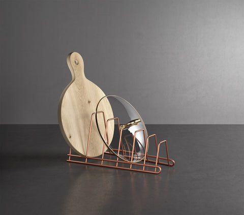Cricket Copper Pot Lid Holder