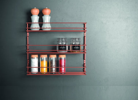 Pepito 3 Copper Spice Rack by Metaltex