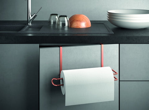 Easy Roll Copper Undershelf Kitchen Roll Holder by Metaltex