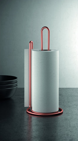 My Roll Copper Vertical Kitchen Paper Towel Holder by Metaltex