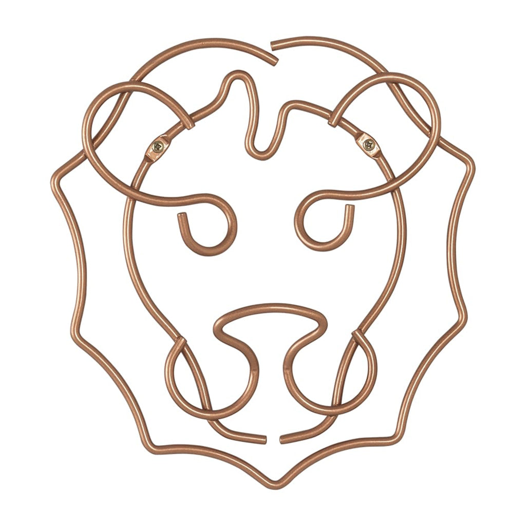 Safari Copper Wall Hanger Lion by Metaltex