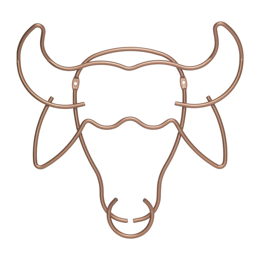 Safari Copper Wall Hanger Buffalo by Metaltex
