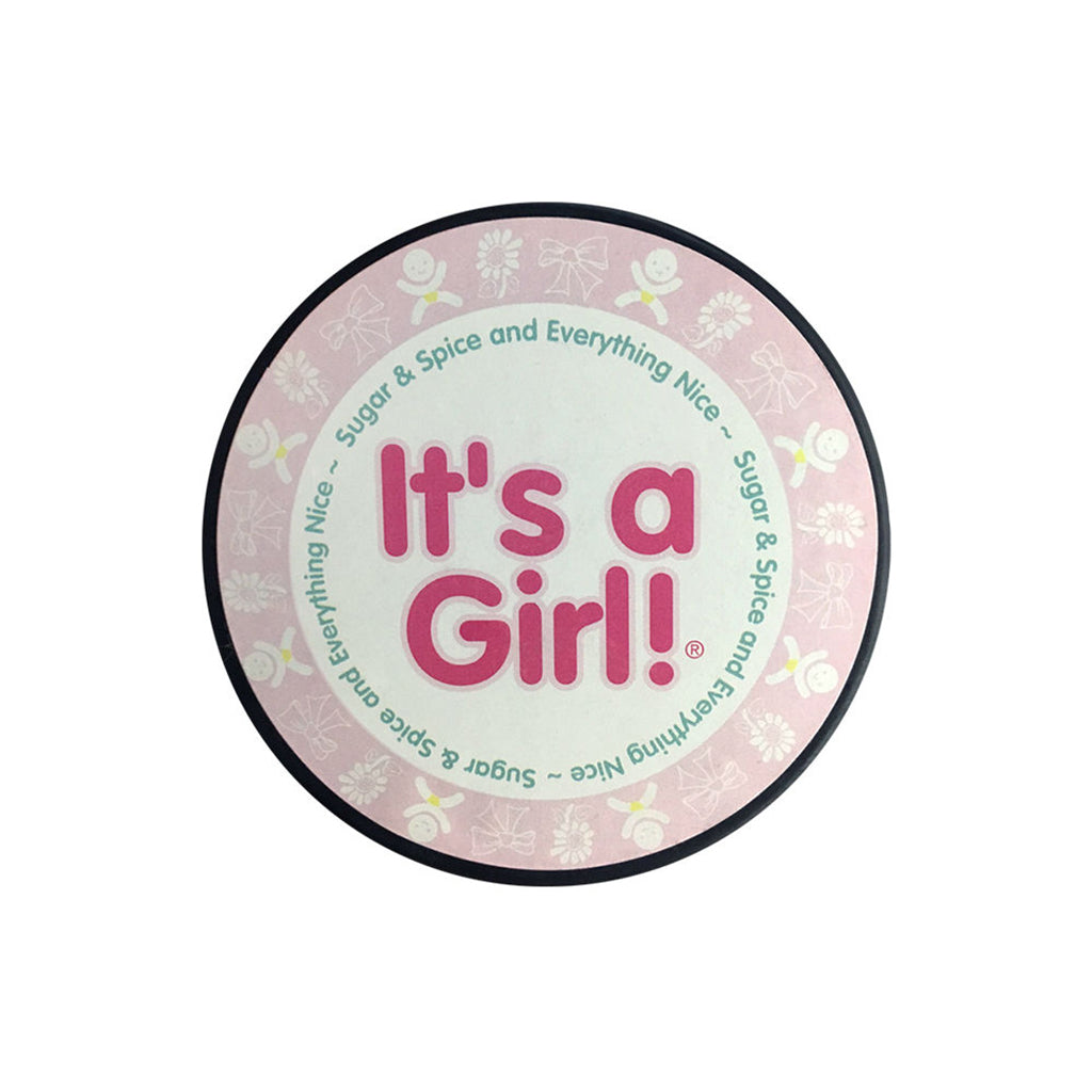 """It's a Girl"" Hockey Puck In Cube by Counseltron"
