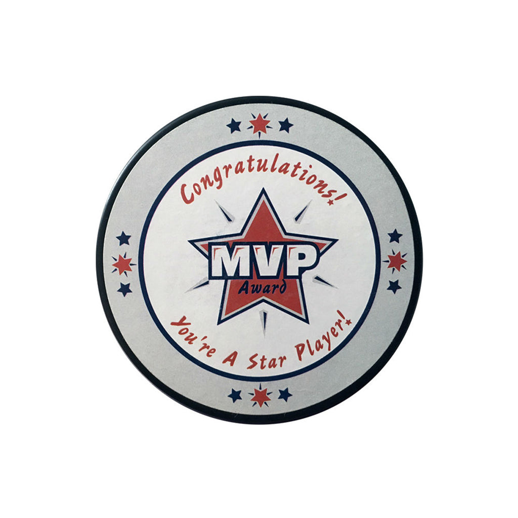 """MVP"" Hockey Puck In Cube by Counseltron"