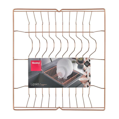 Lipsia Dish Drainer, Copper by Metaltex