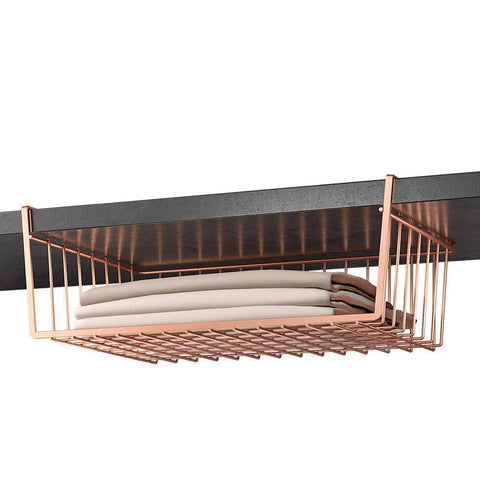 Kanguro 40 Copper Undershelf Basket by Metaltex