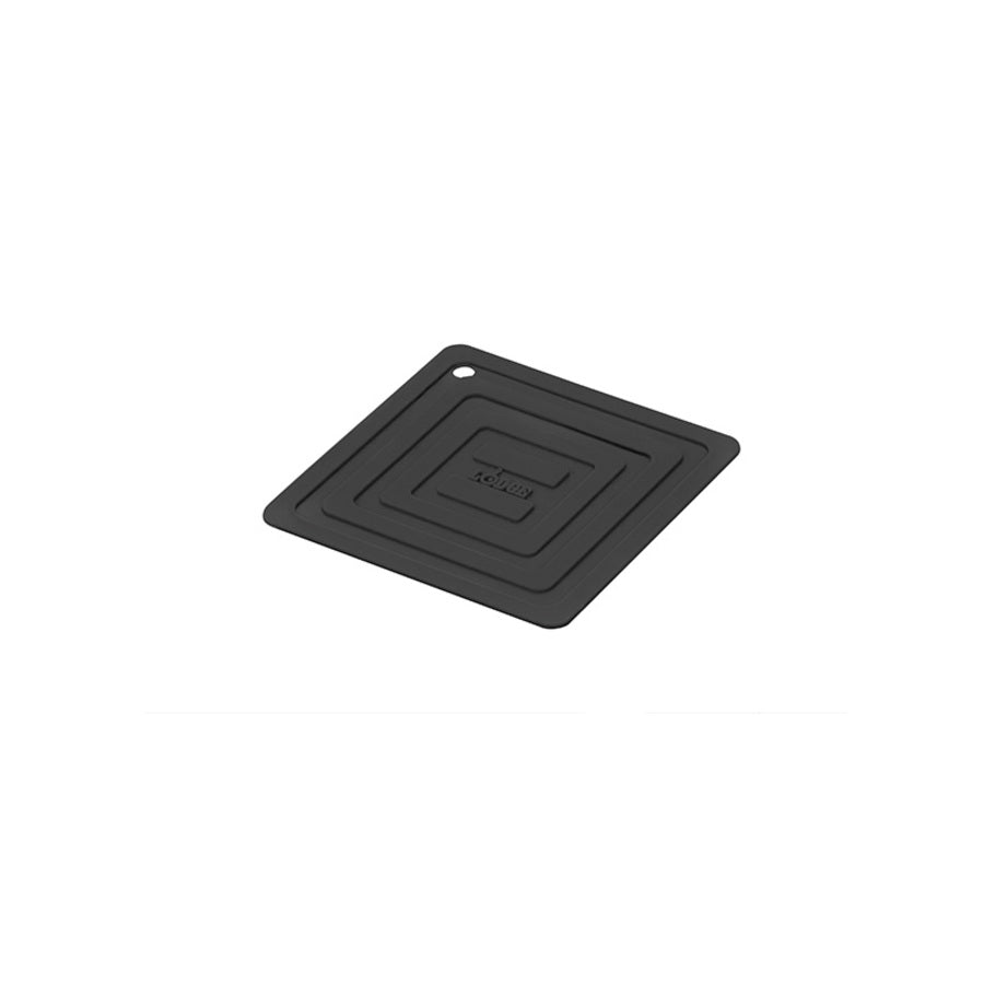 6 Inch Square Silicone Black Pot Holder by Lodge