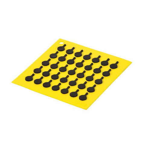 Silicone Trivet With Black Logo Skillets