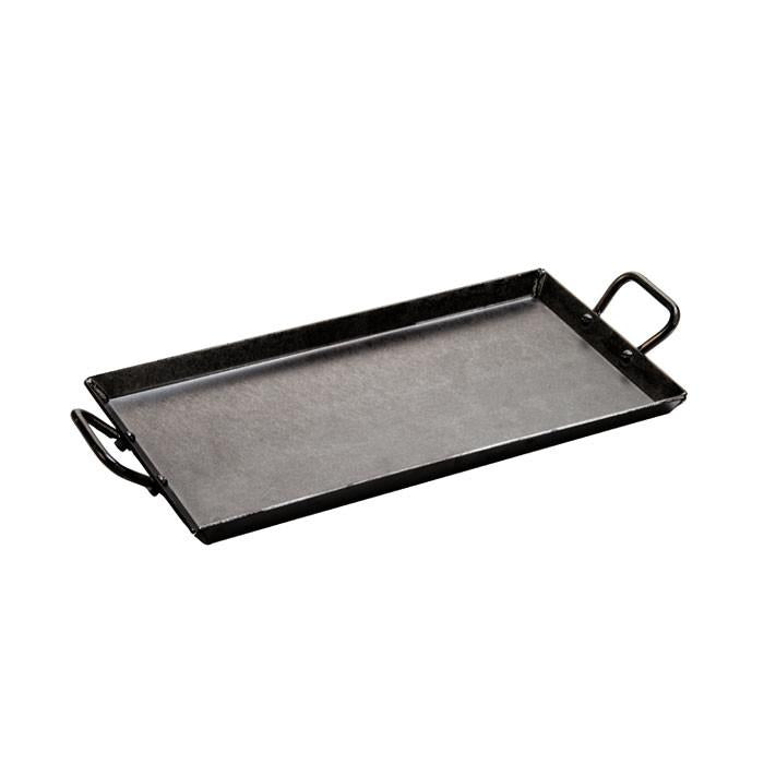 "Seasoned Carbon Steel Griddle 18""x10"" / 46x25 cm by Lodge"