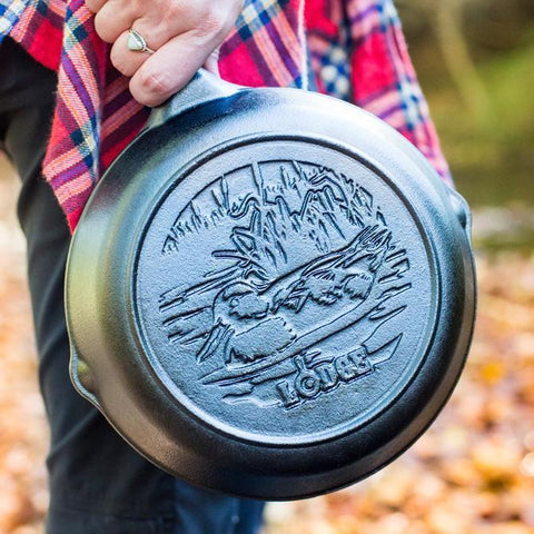 Wildlife Series- 8 Inch Cast Iron Skillet with Duck Scene by Lodge